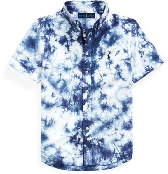 Ralph Lauren Tie-Dye Cotton Poplin Shirt
