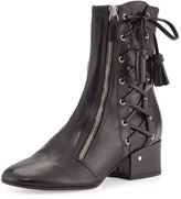 Laurence Dacade Marcella Side-Lace Leather Boot, Black