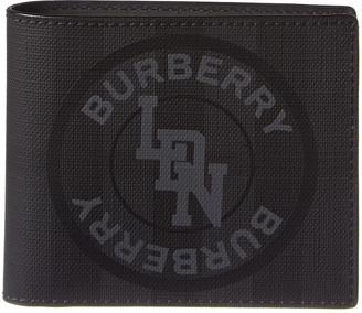 Burberry Logo Graphic London Check International Bifold Wallet