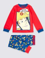 Marks and Spencer Cotton Rich Fireman SamTM Pyjamas (1-8 Years)