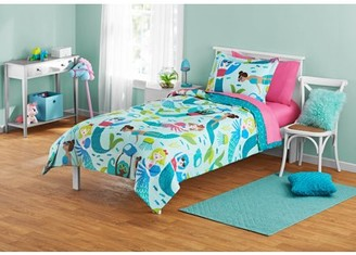 Your Zone Blue & Pink Mermaid Bed-in-a-Bag Kids Bedding Set