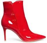 Gianvito Rossi 'Levy 85' patent leather ankle boots
