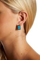 Cole Haan Turquoise Stone Boxy Huggie Hoop Earrings