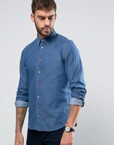 Paul Smith Denim Shirt Tailored Slim Fit in Mid Wash