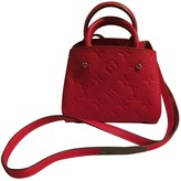 Louis Vuitton Montaigne Red Leather Handbags