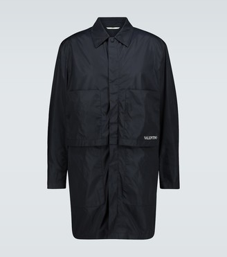 Valentino Layered paneled technical raincoat