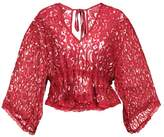 MinkPink YOUNG HEARTS LACE Beach accessory maroon