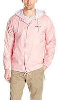Obey Men's Defiant Rose Hooded Snap Coaches Jacket
