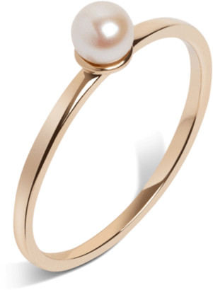 AUrate New York Simple Pearl Ring