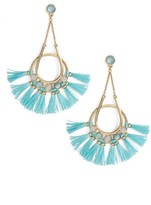 Rebecca Minkoff Women's Utopia Tassel Chandelier Earrings