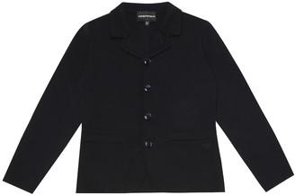 Emporio Armani Kids Cotton knit jacket