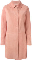 Drome tailored coat - women - Suede/Leather - M