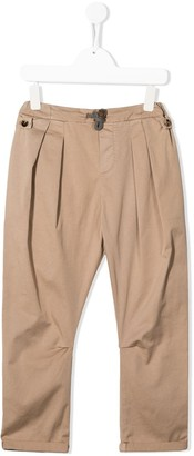 BRUNELLO CUCINELLI KIDS Pleated Drawstring Trousers