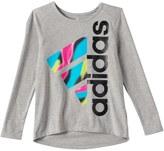 adidas Girls 4-6x Tilted Graphic High-Low Hem Tee