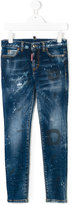 DSQUARED2 paint effect jeans