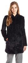 Kenneth Cole Women's Fuzzy Faux-Fur Coat