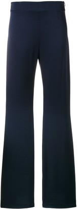 Galvan high-waisted flared trousers