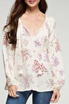 Love Stitch Lovestitch Floral Peasant Top