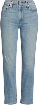 Hudson Barbara High-Waist Cropped Straight-Leg Jeans