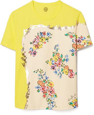 Tory Burch Mixed-Print T-Shirt