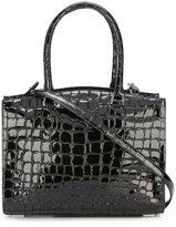 Rochas crocodile texture tote bag - women - Goat Skin - One Size