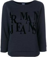 Armani Jeans three-quarters sleeve logo sweatshirt
