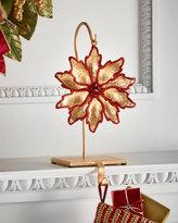 Janice Minor Flower/Red Glitter Stocking Holder