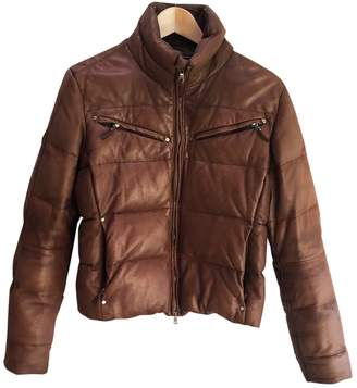 Lauren Ralph Lauren Brown Leather Leather Jacket for Women