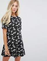 Glamorous Tea Dress In Grunge Floral