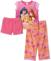 Disney Little Girls Princess 3 Piece Pajama Set