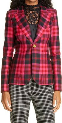 Smythe Duchess Plaid Wool Blazer