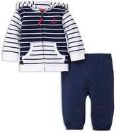 Little Me Boys' Nautical Reverse French Terry Jacket & Jogger Pants Set - Baby