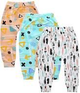 Kids Tales 3-Pack Baby Boys Girls Cartoon Print Harem PP Leggings Pants