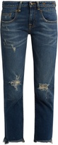 R 13 Straight Boy distressed jeans