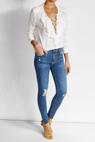 Adriano Goldschmied Distressed Skinny Jeans