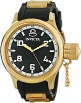 Invicta Men's 1436 Russian Diver Black Rubber Dial Watch