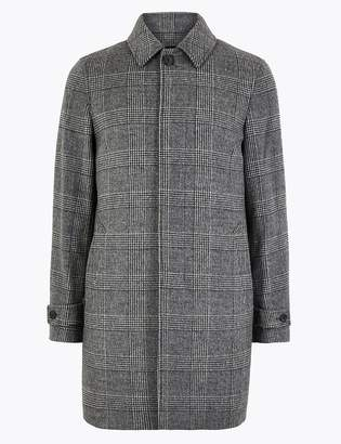 AutographMarks and Spencer Wool Rich Checked Overcoat