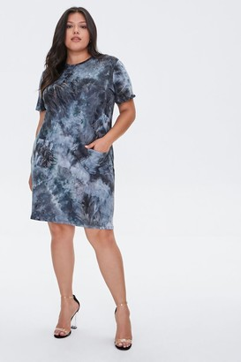 Forever 21 Plus Size Tie-Dye T-Shirt Dress