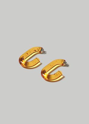 Rachel Comey Women's Small Keeper Earrings in Brown Resin