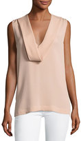 Theory Salvatill Sleeveless Classic Georgette Top