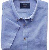 Charles Tyrwhitt Slim fit short sleeve mid blue shirt