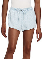Bella Dahl Chevron Chambray Shorts