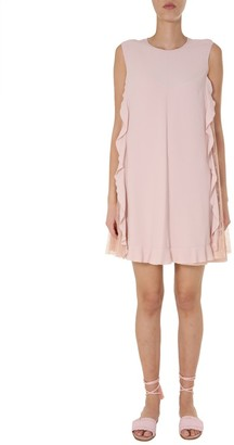 RED Valentino Ruffle Tulle Detail Dress