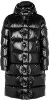 Moncler Hanovarian Black Quilted Shell Coat
