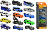 Majorette 5 Pack Diecast Racing Vehicles Assorted