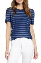 Lucky Brand Stripe Puff Sleeve T-Shirt
