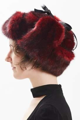 Maison Atia Trapper Hat - Faux Fur Red