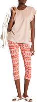 Loveappella Printed Capri Legging