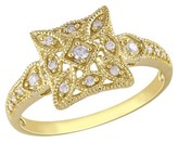 Diamond Ring in 10k Yellow Gold