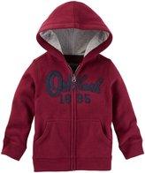 Osh Kosh Zip Up Hoodie (Baby) - Red - 12 Months